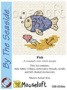 Mouseloft Fish By The Seaside cross stitch kit